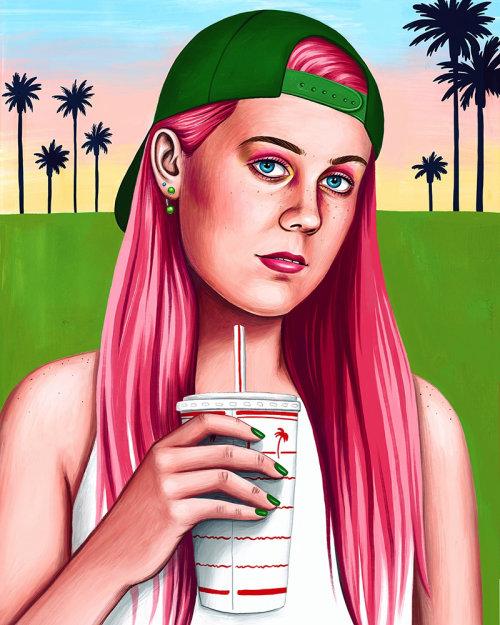 Arte do auto-retrato por Juliette Toma