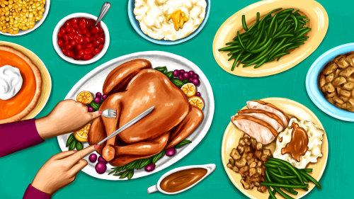 Ilustração de ação de Graças para Eater