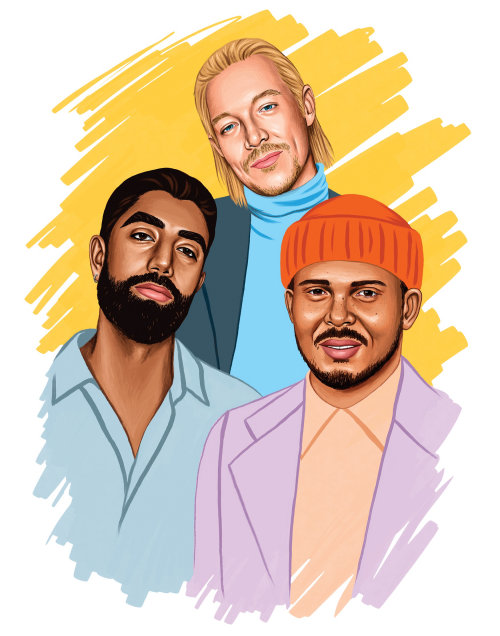 Major Lazer artwork for Billboard