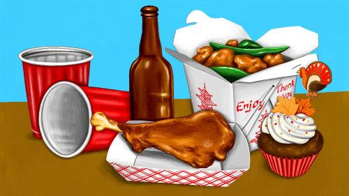 Ilustração não tradicional de ação de Graças para Eater