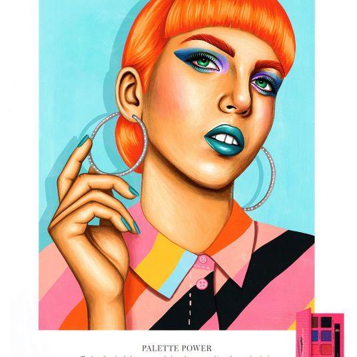 Editorial art of Palette power