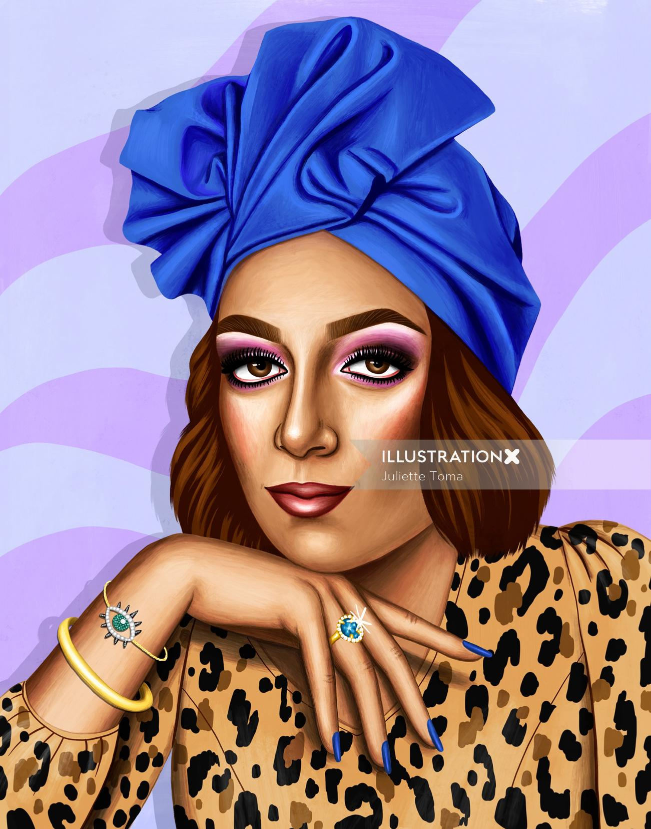 African women portrait illustration