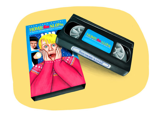 Home Alone movie cassette packaging