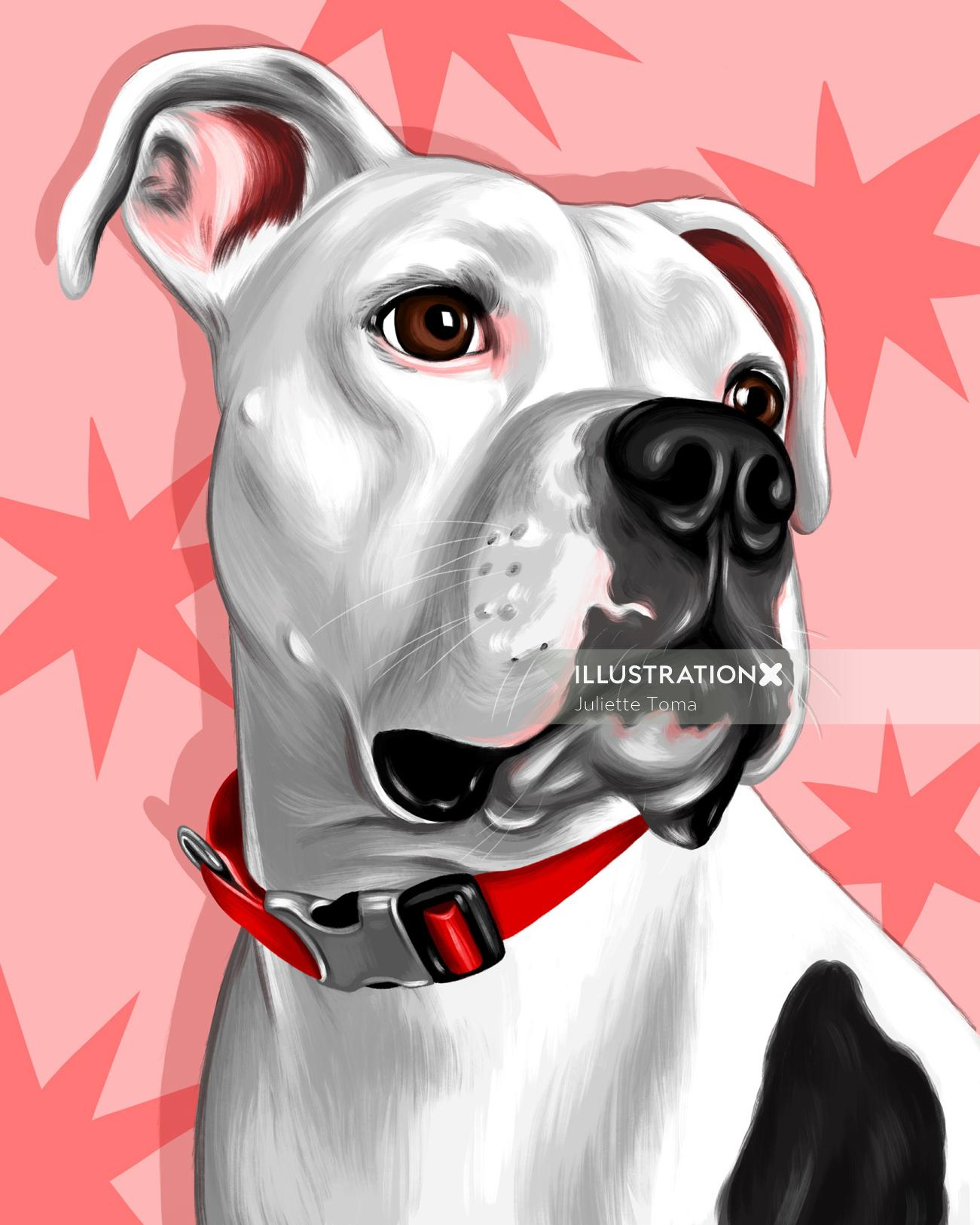 Portrait art of dog