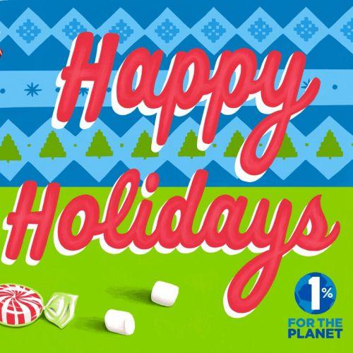 Holiday card design for illustrationx