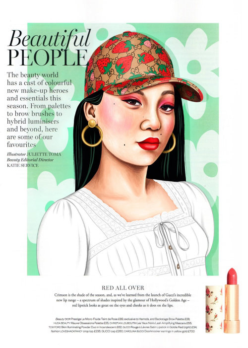 Editorial art of Beautiful people