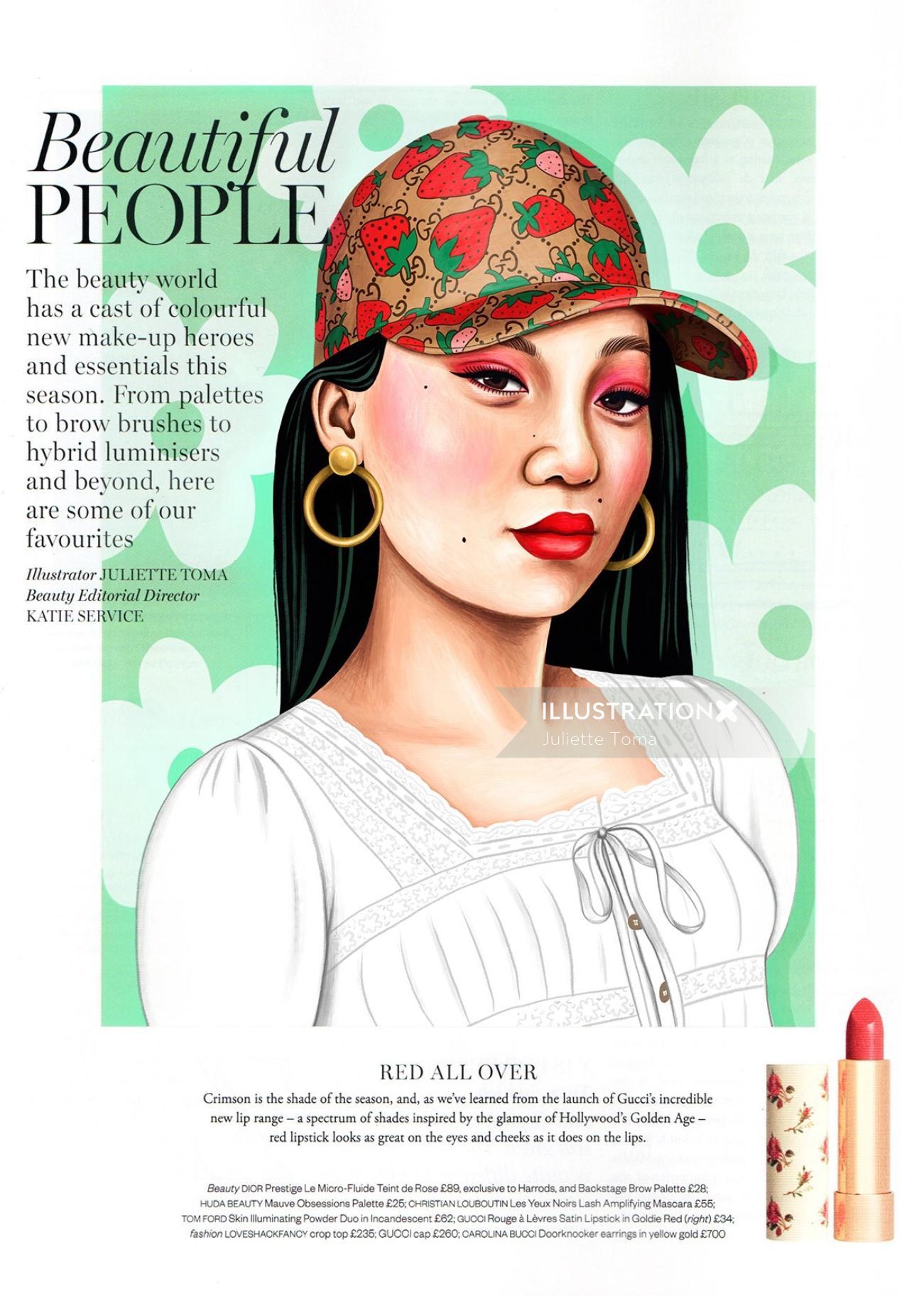 Editorial art of Beautiful people