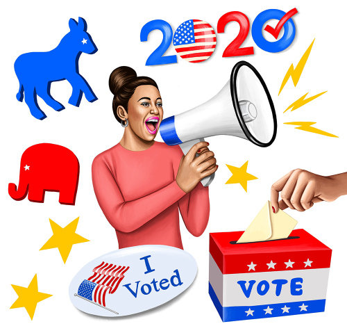 Advertising illustration US 2020 Elections