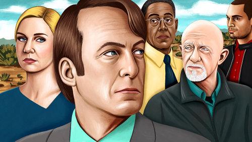 Editorial illustration of Better Call Saul