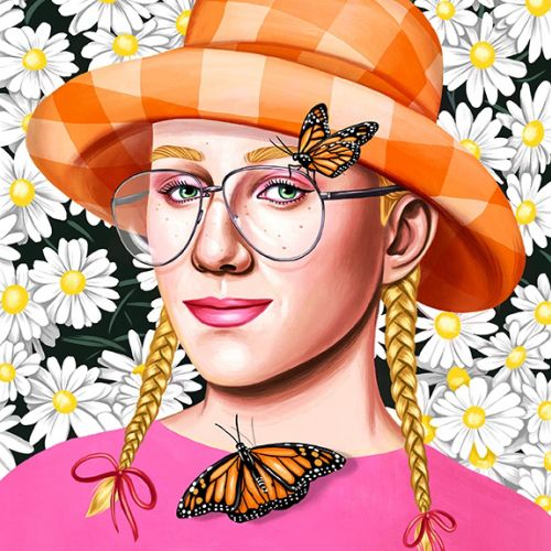 Justin Gillett portrait illustration