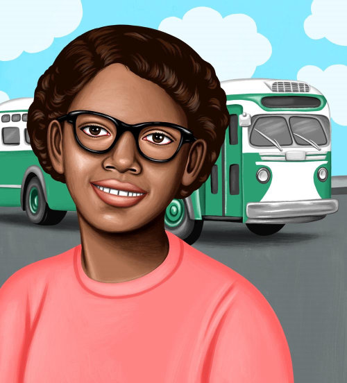 Claudette Colvin portrait illustration
