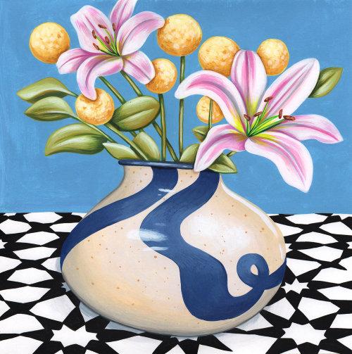 Flower vase digital art
