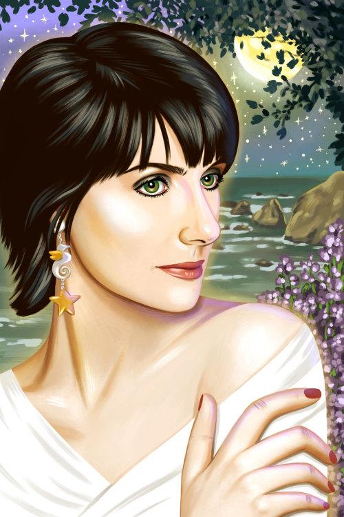 Enya portraiture for Butter Magazine