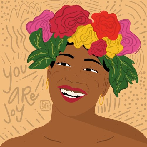 Portrait of a woman with flower crown