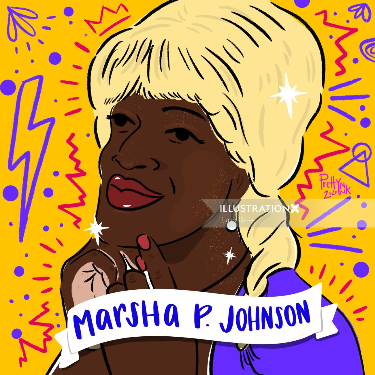 Portrait of Marsha P Johnson