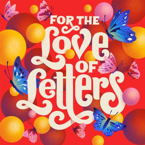 Digital illustration 'For the Love of Letters'
