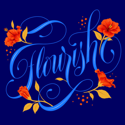 Flourish lettering design