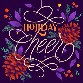 Holiday cheer card for Christmas 2018 by Jyotirmayee Patra