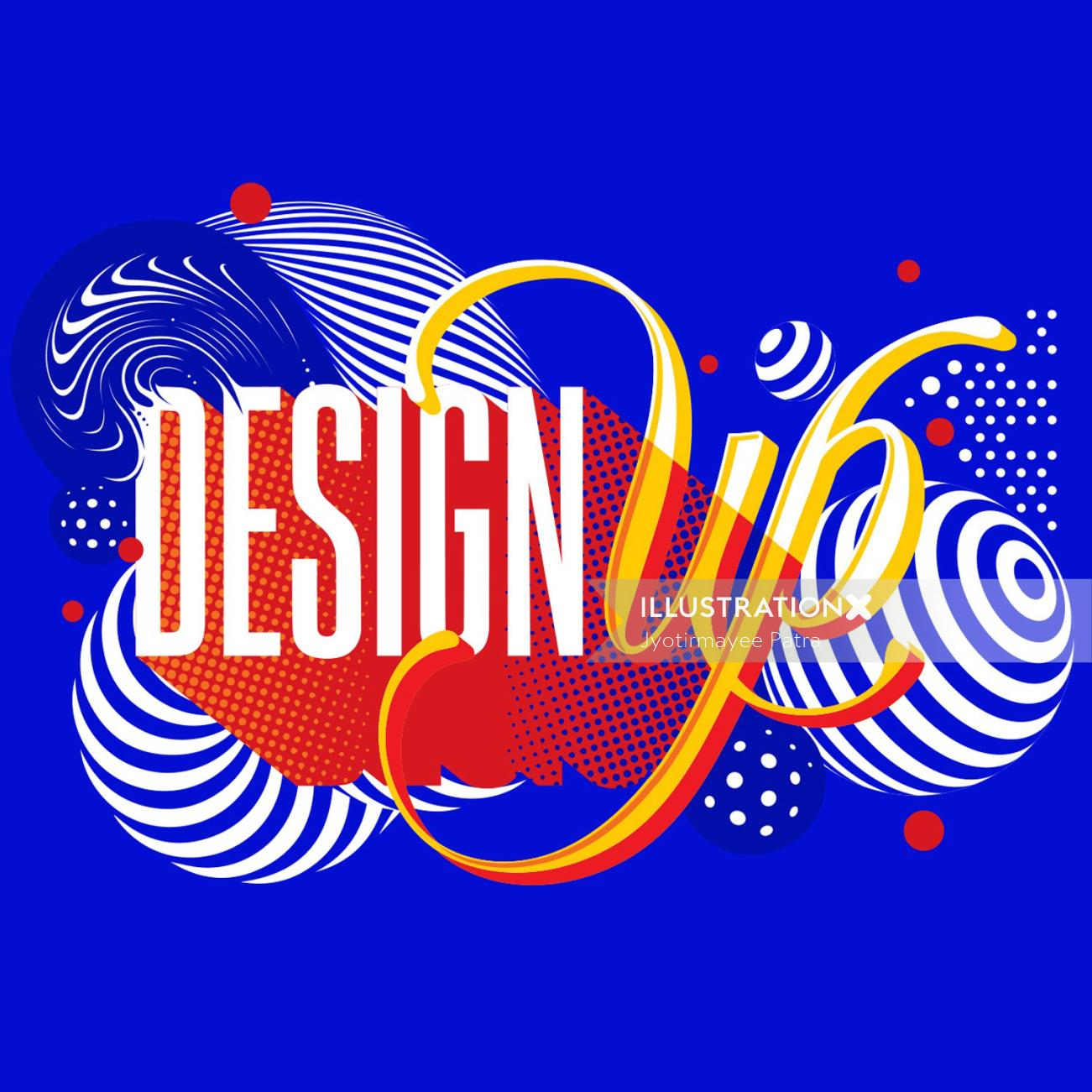 Custom lettering piece created for DesignUp Conference 2018