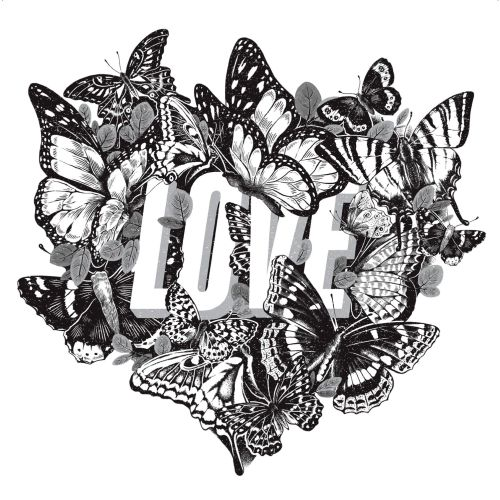 "Lettering illustration of ""Love"""