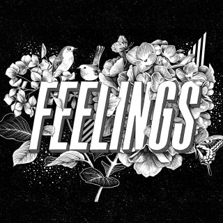 'Feelings' lettering from a personal art series 'Love' by Jyotirmayee Patra