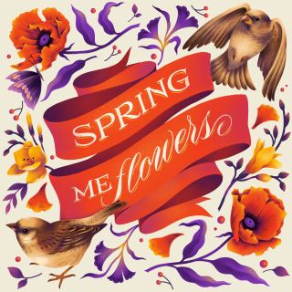 Artwork inspired by the season of Spring title Spring me flowers