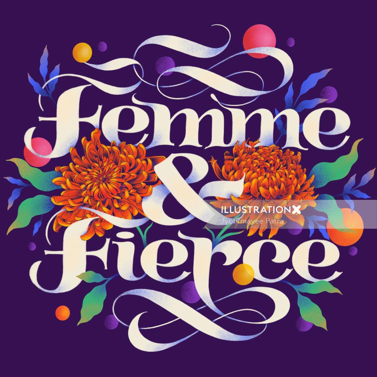Social post for International Women's Day 2019 for Femme & Fierce