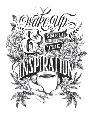 Hand lettered quotes for the daily dose of inspiration