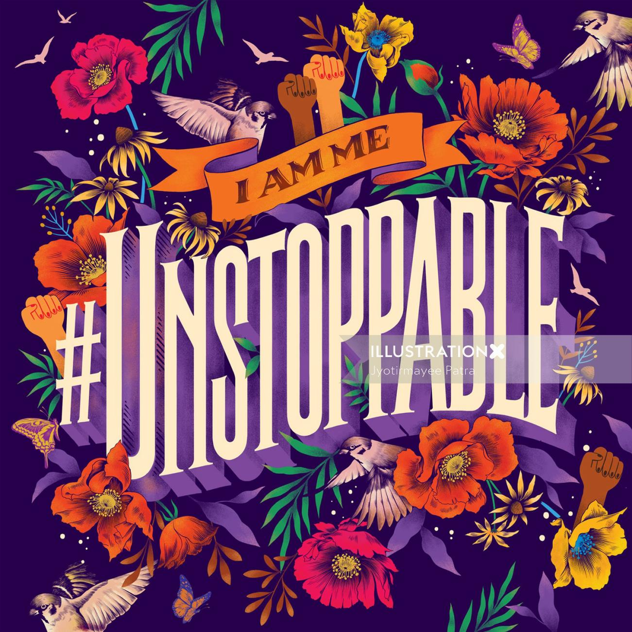 Mural created for Ananya Birla's brand new single called 'Unstoppable'.