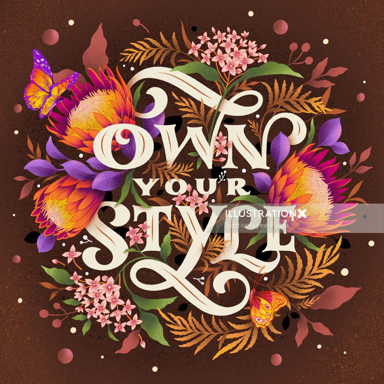 Lettering of own your style