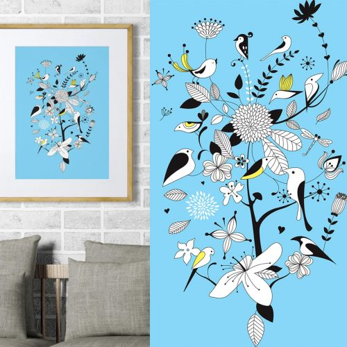 Graphical art of Birds & Branches