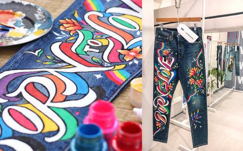 Art graphique sur pantalon
