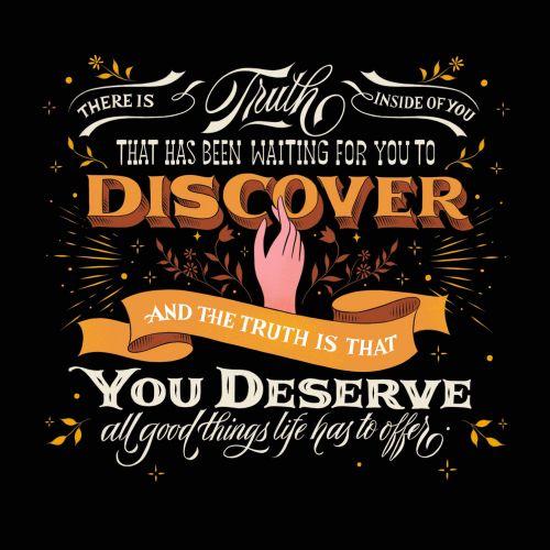 Lettering Discover you deserve