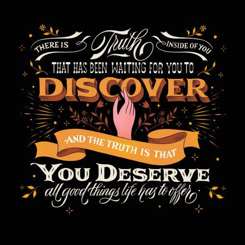 Lettrage Découvrez que vous méritez