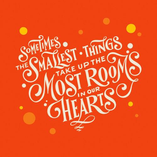 Lettrage Parfois les plus petites choses