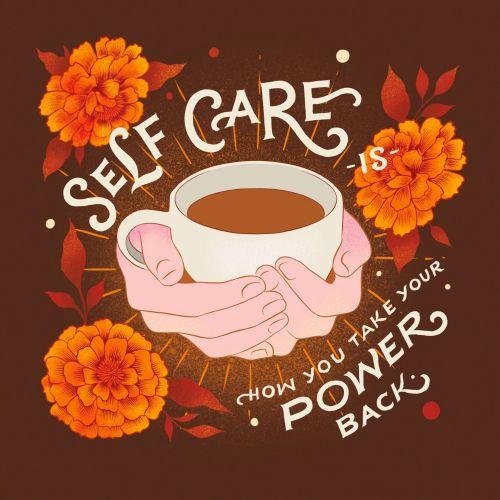 Lettering Self care