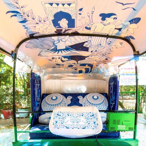 Installation Art - Auto Rickshaw