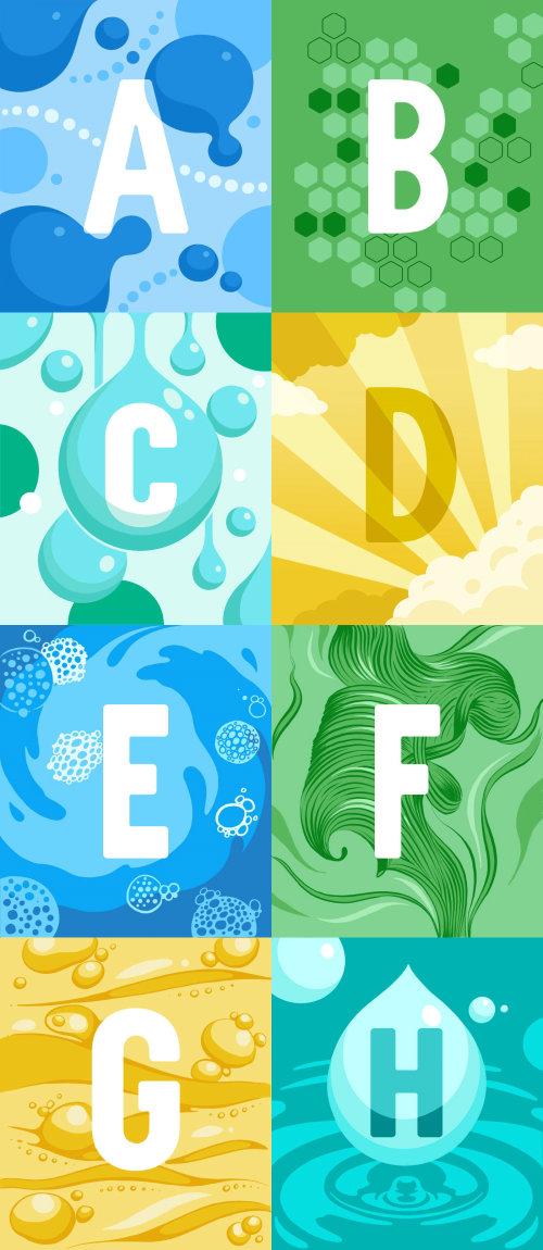 Alphabet Illustrations for CeraVe