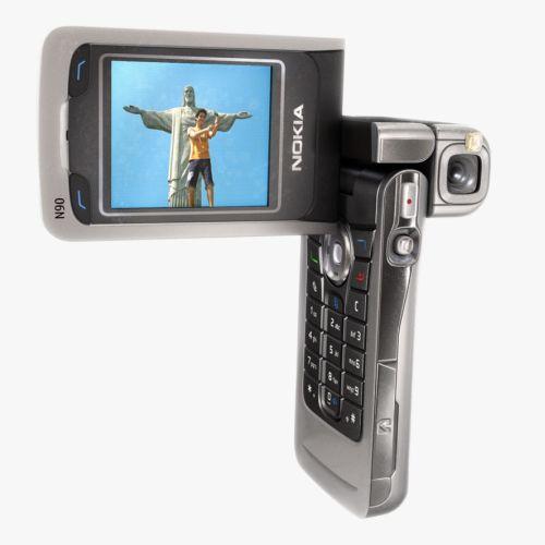 Camera mobile realistic illustration