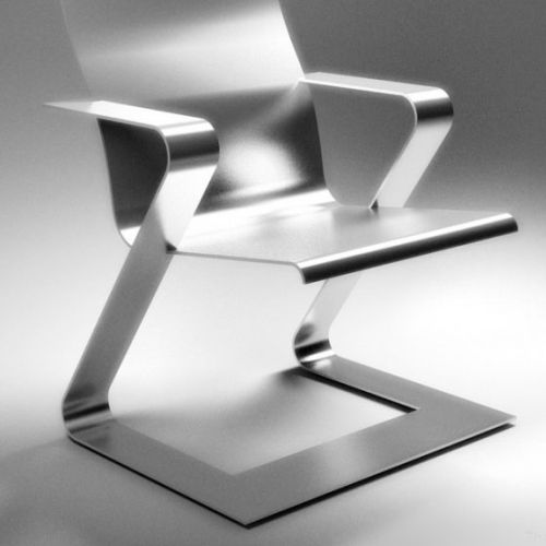 Digital painting of Chrome Chair
