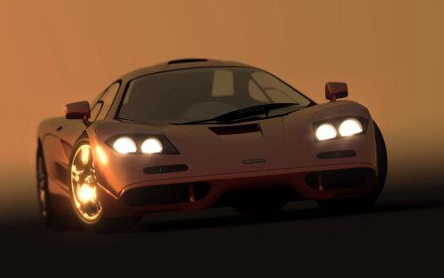 Graphic design of Mclaren sports car