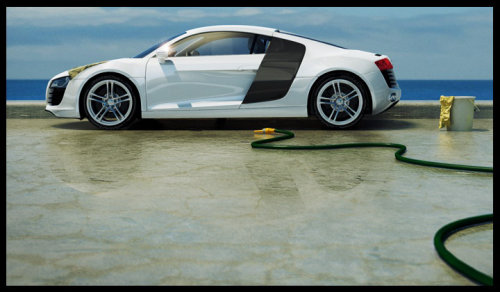 Audi R8 car realistic illustration