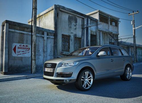 Photo realistic design of Audi Q7