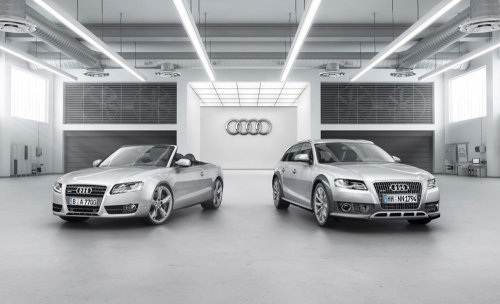 3d design of Audi warehouse