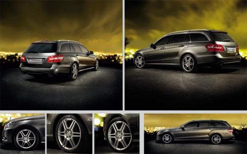 Storyboard illustration of Mercedes car