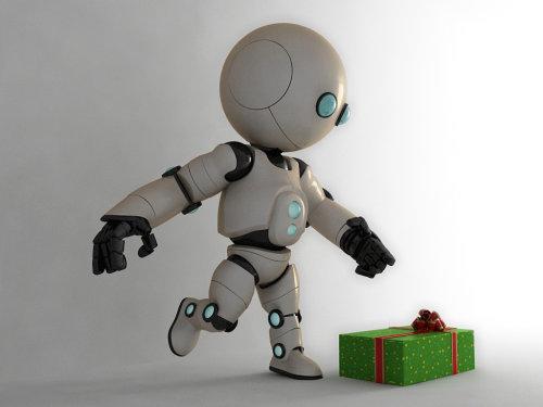 Cgi rendering design of Cute robot