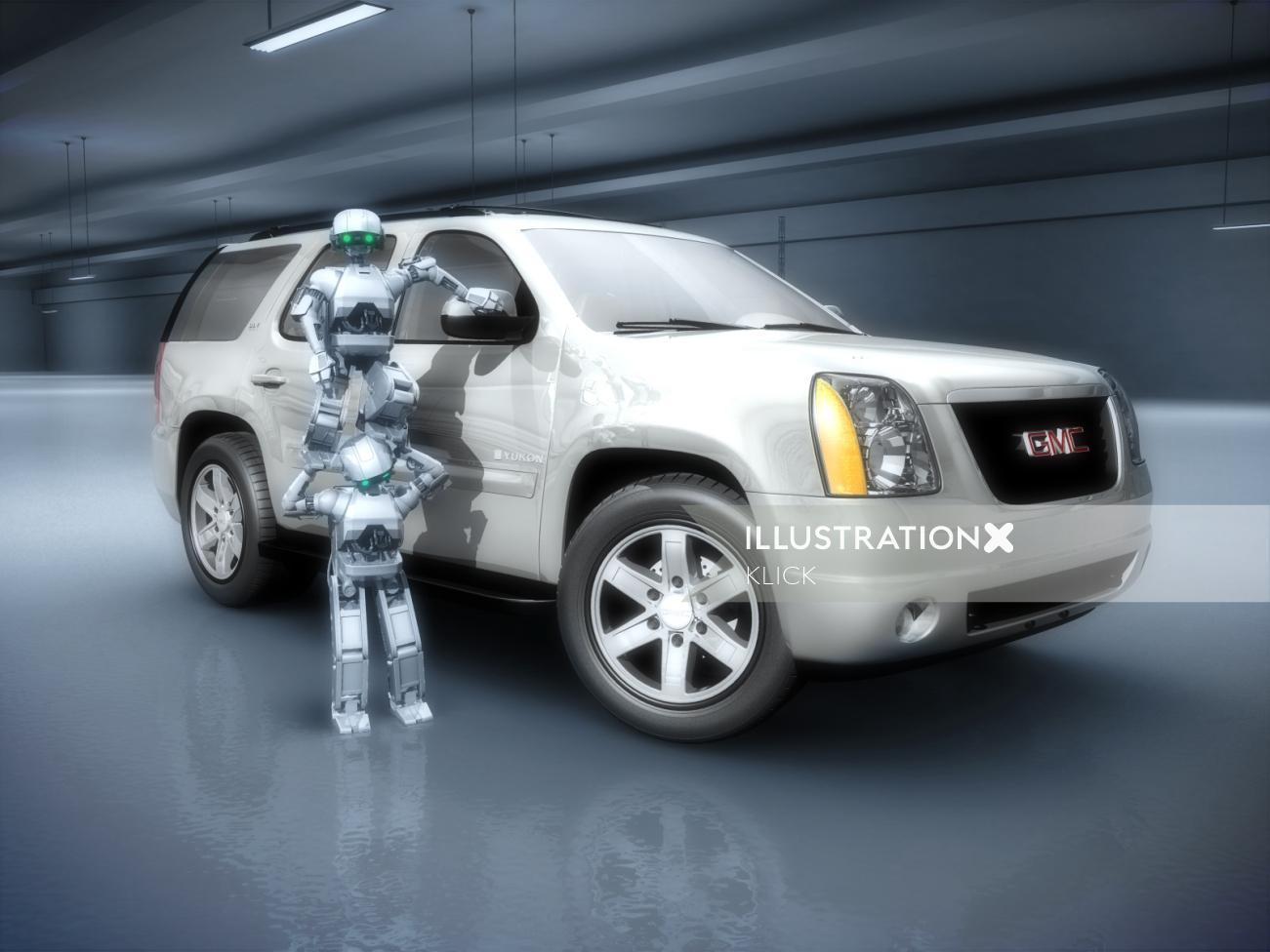 Photo realistic illustration of GMC Truck