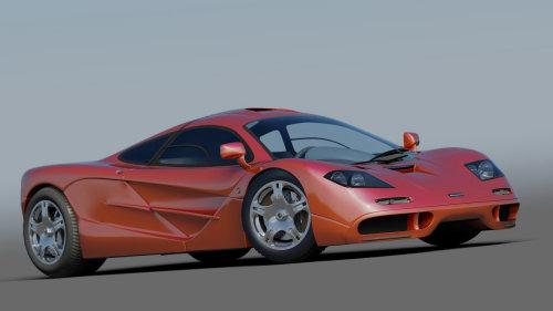 Photo realistic illustration of Mclaren car