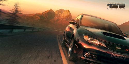 Illustration of Subaru car