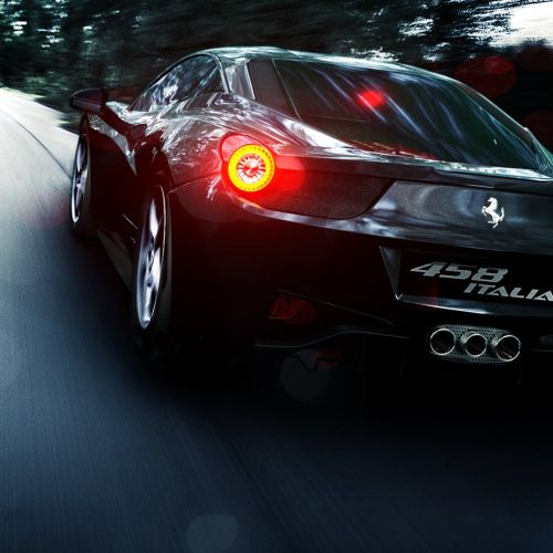 Cgi rendering design of Ferrari 458